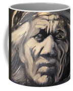 Indio Indian Black And White Oil Painting Coffee Mug