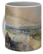 Industrial Landscape In The Blanzy Coal Field Coffee Mug by Ignace Francois Bonhomme