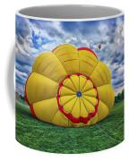 Inflating The Hot Air Balloon Coffee Mug
