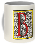Initial 'b', C1600 Coffee Mug