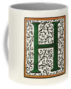 Initial 'h', C1600 Coffee Mug