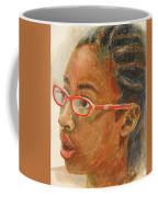 Inquisitive Girl Coffee Mug by Xueling Zou