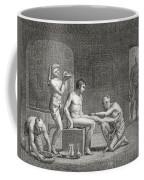 Inside An Egyptian Bathhouse, C.1820s Coffee Mug