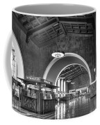 Inside Los Angeles Union Station In Black And White Coffee Mug