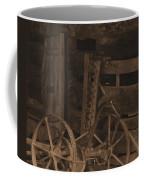 Inside The Barn In Sepia Coffee Mug