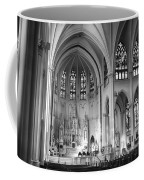 Inside The Cathedral Basilica Of The Immaculate Conception 1 Bw Coffee Mug