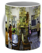 Inside The Historic Jewish Synagogue In Cochin Coffee Mug