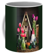 Inside The Potting Shed Coffee Mug by Edward Fielding