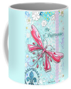 Inspirational Dragonfly Floral Art Inspiring Art Quote Be Passionate By Megan Duncanson Coffee Mug