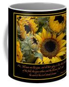 Inspirational Sunflowers Coffee Mug