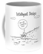 Intelligent Design -- A Fish Walks On To Land Coffee Mug