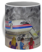 Interam Airlines Flight One Clearwater Florida To Bristol England Coffee Mug