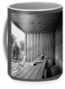 Interior End Of Porch With Vertical Louvers Coffee Mug