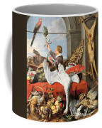 Interior Of An Office, Or Still Life With Game, Poultry And Fruit, C.1635 Oil On Canvas Coffee Mug