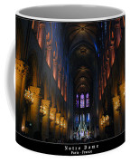 Interior Of Notre Dame De Paris Coffee Mug