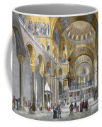 Interior Of San Marco Basilica, Looking Coffee Mug by Italian School