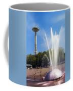 International Fountain And Space Needle Coffee Mug