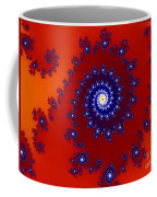 Intricate Red Blue Fractal Based On Julia Set Coffee Mug