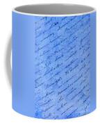 Iphone Case Blue Handwriging Coffee Mug
