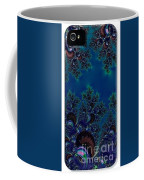 Iphone Case  Midnight Blue Frost Crystals Fractal Coffee Mug