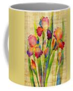 Iris Elegance On Yellow Coffee Mug
