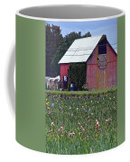 Iris Field And Barn Coffee Mug