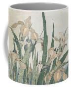 Iris Flowers And Grasshopper Coffee Mug