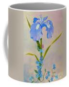 Iris With Forget Me Nots Coffee Mug