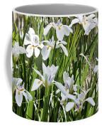 Irises Dancing In The Sun Painted Coffee Mug