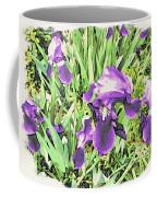 Irises In The Garden Coffee Mug