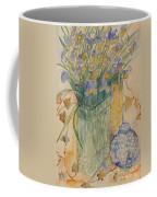 Irises With Chinese Pot Coffee Mug