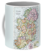 Irish Free State And Northern Ireland From Bacon S Excelsior Atlas Of The World Coffee Mug