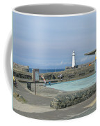 Irish Sea Lighthouse On Pier Coffee Mug