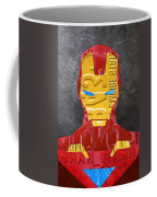Iron Man Superhero Vintage Recycled License Plate Art Portrait Coffee Mug