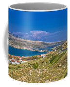 Island Of Pag Aerial Bay View Coffee Mug