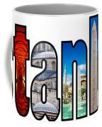 Istanbul Word Montage Coffee Mug