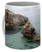 It Rocks 2 - Close To Son Bou Beach And San Tomas Beach Menorca Scupted Rocks And Turquoise Water Coffee Mug