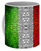 Italian Flag - Italy Stone Rock'd Art By Sharon Cummings Italia Coffee Mug