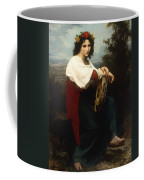 Italian Woman With A Tambourine Coffee Mug by William Adolphe Bouguereau