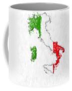 Italy Painted Flag Map Coffee Mug