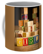 Its A Girl - Alphabet Blocks Coffee Mug