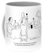 It's A Naive Domestic Burgundy Without Any Coffee Mug