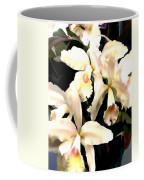 Ivory Cattleya Orchids Coffee Mug