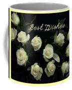Ivory Roses Greeting  Coffee Mug