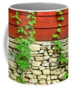Ivy On Stone And Wood Coffee Mug