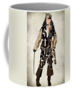 Jack Sparrow Inspired Pirates Of The Caribbean Typographic Poster Coffee Mug by Ayse Deniz