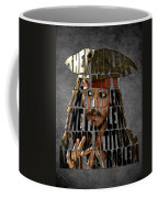 Jack Sparrow Quote Portrait Typography Artwork Coffee Mug