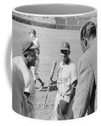 Jackie Robinson Hank Aaron And Nat King Cole Coffee Mug by The Harrington Collection