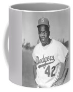 Jackie Robinson Poster Coffee Mug by Gianfranco Weiss