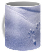 Jackrabbit Tracks In Snow Coffee Mug